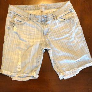 U.S. Polo women's mid-length shorts